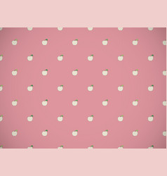 Horizontal card pattern with cartoon apples on vector