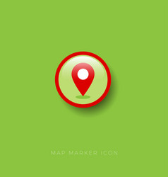 icon map marker vector image