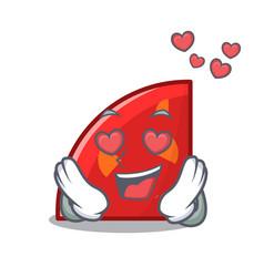 in love quadrant mascot cartoon style vector image