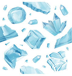 Isolated ice caps snowdrifts icicles pattern vector