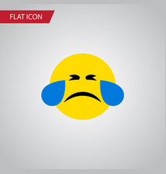 Isolated tears flat icon cold sweat vector