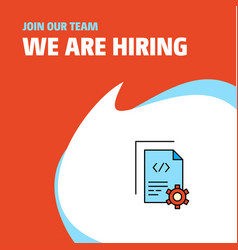 join our team busienss company coding we are vector image