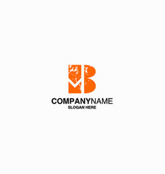 letter b logo icon design template stock vector image