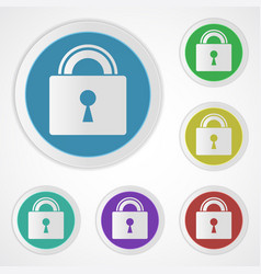 lock icons closed vector image