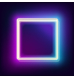 Lowing electric square neon lamp vector