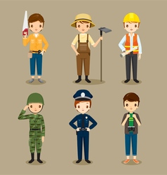 Man People With Different Occupations Set vector