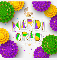 mardi gras or shrove tuesday lettering design vector image