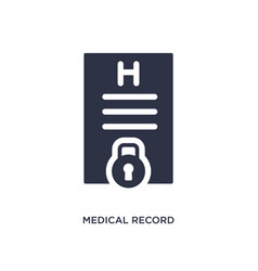 medical record icon on white background simple vector image