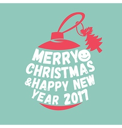 Merry christmas textisolated on background vector image