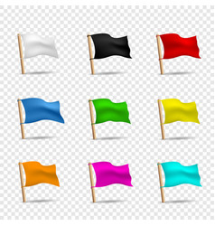 multicolored flags icon set vector image