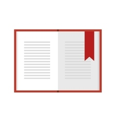 Open book education vector