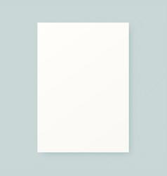 paper sheet mockup vector image