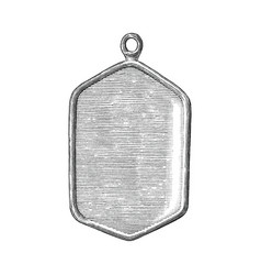 Pendant soldier hand draw vintage style black and vector