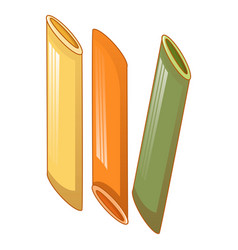 penne tricolore icon cartoon style vector image