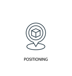 positioning concept line icon simple element vector image