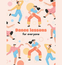 poster dance lessons for everyone vector image