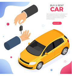 purchase car sharing or rental car vector image