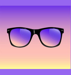 realistic vintage sunglasses isolated vector image