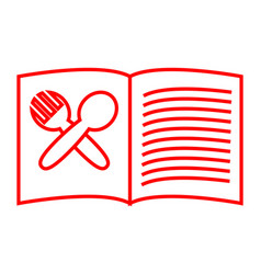 Recipe book vector