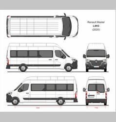 Renault master passenger van l4h3 2020 vector