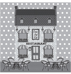 Restaurant facade vector