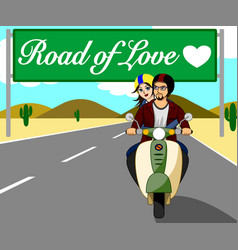 Road love desert vector