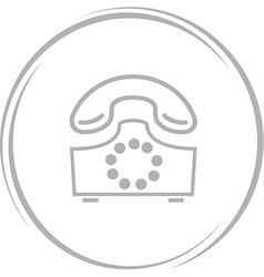 rotary phone vector image