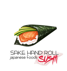 Sake hand roll vector