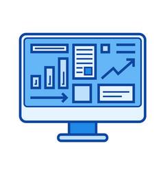 sales statistics line icon vector image