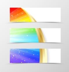 set banner rainbow design vector image
