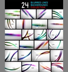 Set blurred wave line design background vector