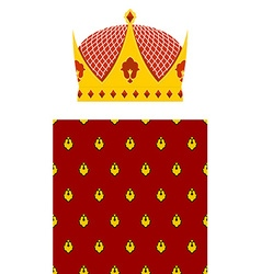 Set Crown and mantle Royal Crown Jewelry accessory vector