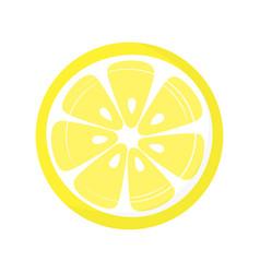 slice lemon isolated on white background vector image