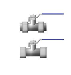 steel shutoff valve vector image