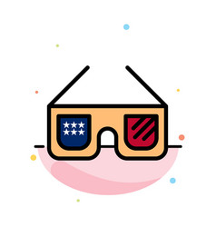 sunglasses glasses american usa abstract flat vector image