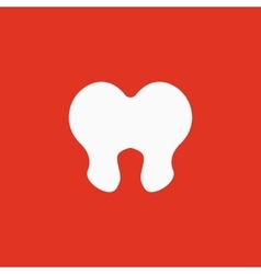 The tooth icon Dentist and stomatology symbol vector image