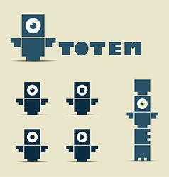 Totem logo and character vector image
