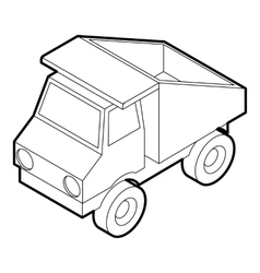 Toy truck icon outline style vector image