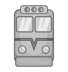 Train icon black monochrome style vector
