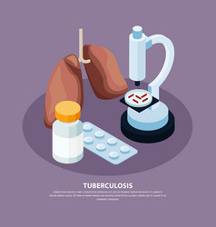 Tuberculosis prevention concept vector