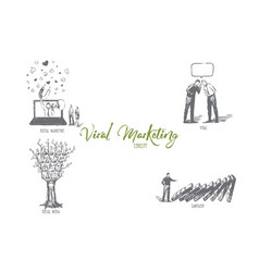 viral and digital marketing social media vector image