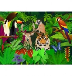 wild animal in the jungle vector image