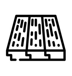 Wood layer floor line icon vector