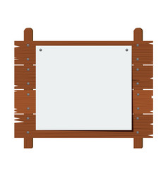 wooden sign isolated on white background vector image