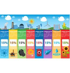 energetics infographics industry alternative vector image