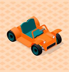 Isometric retro car model sport utility vehicle vector