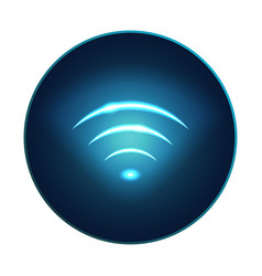 neon modern wifi sign rounded icon eps10 vector image