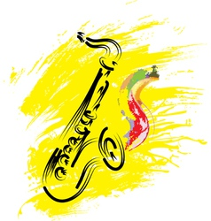 stylized saxophone vector image