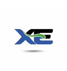 XE logo vector image vector image