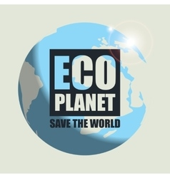 Banner Eco planet vector image